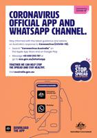 Coronavirus official app & Whatsapp