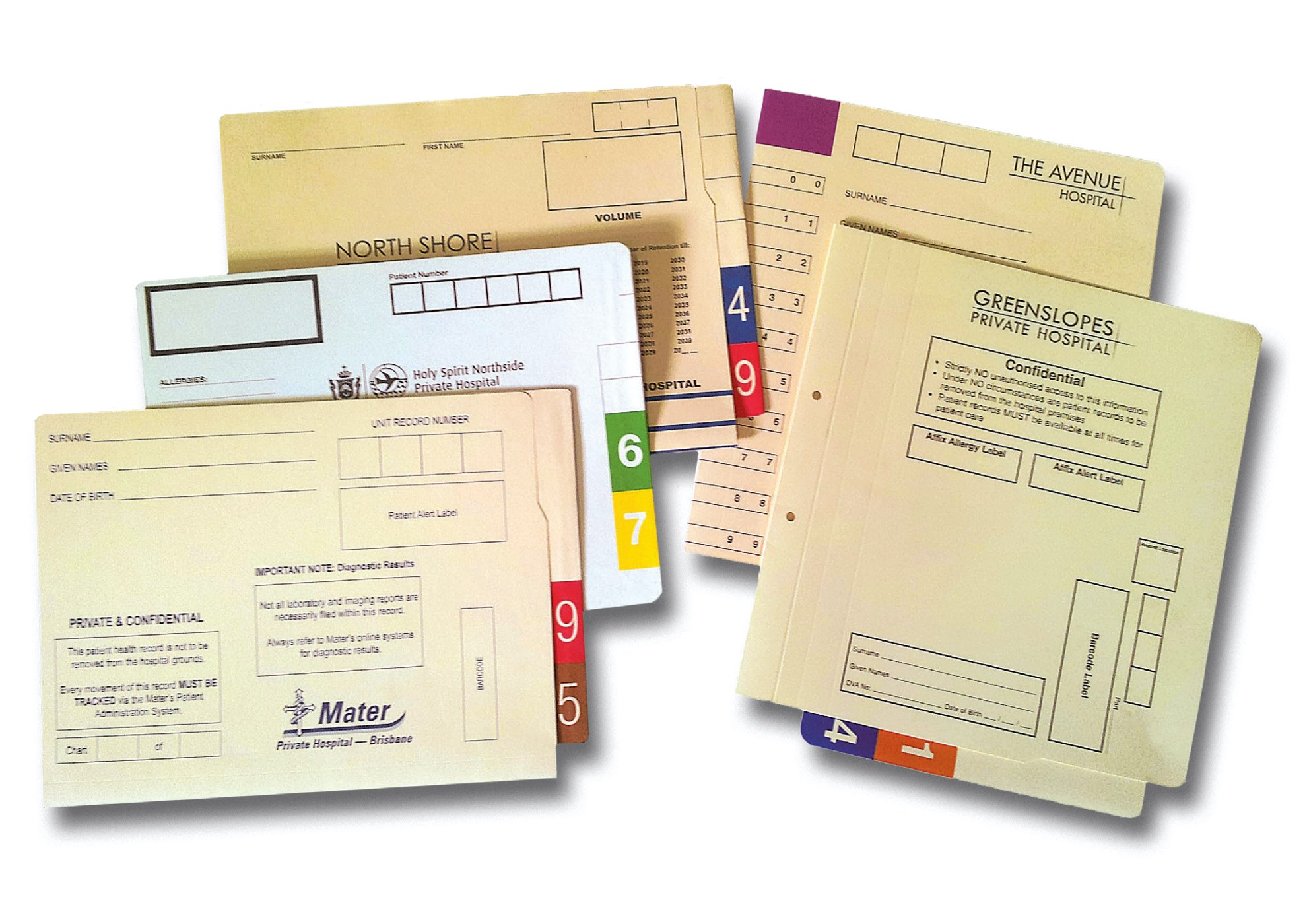 Various Medical Record Covers