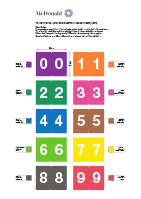 TD Numbering Chart