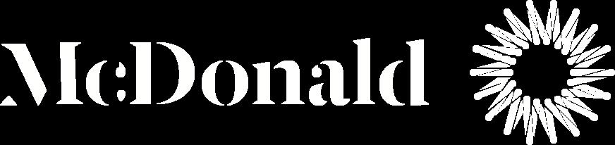 McDonald Group logo - White
