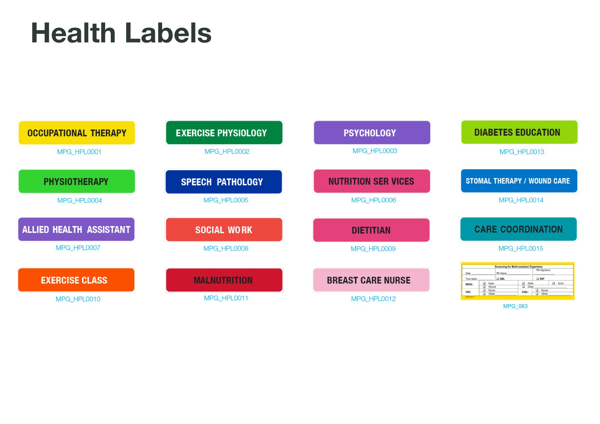 Health labels